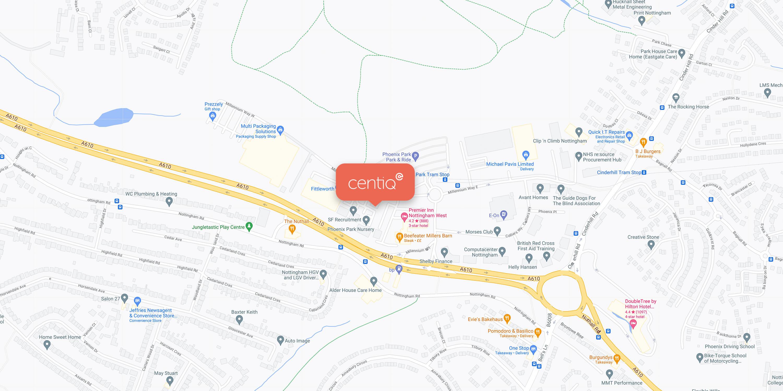 Centiq - Contact - Map Location
