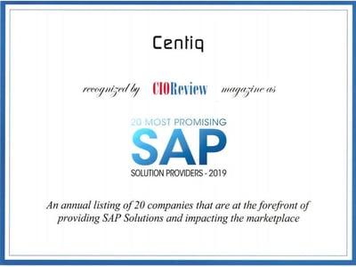 CIOReview SAP Winner