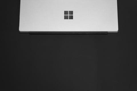 Close-up of Microsoft laptop