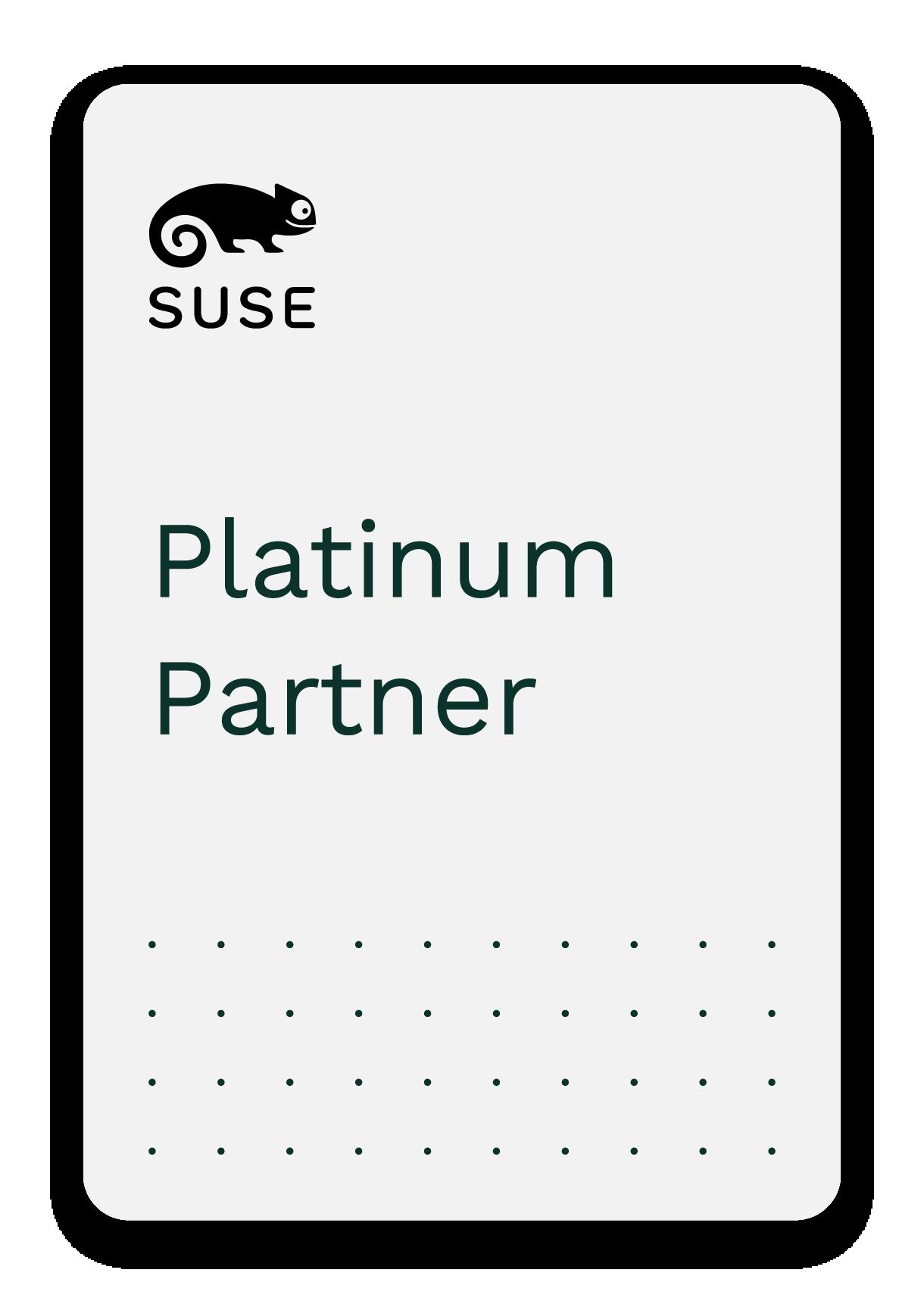 SUSE platinum partner badge